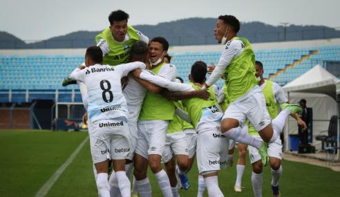 Grêmio bate Avaí fora de casa e abre vantagem nas semifinais do Brasileirão de Aspirantes