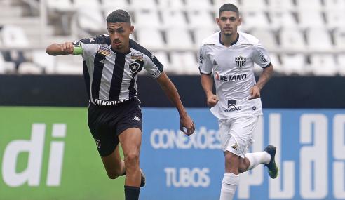 Botafogo e Atlético-MG não saem do zero na ida das quartas do Brasileirão Sub-20