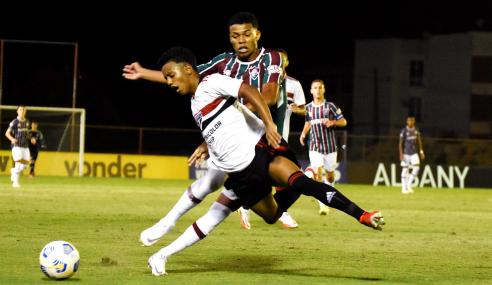 Nos pênaltis, São Paulo elimina Fluminense e avança na Copa do Brasil Sub-17