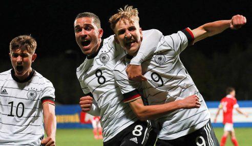 Alemanha vai à 2ª fase da Euro Sub-17 com 100% de aproveitamento