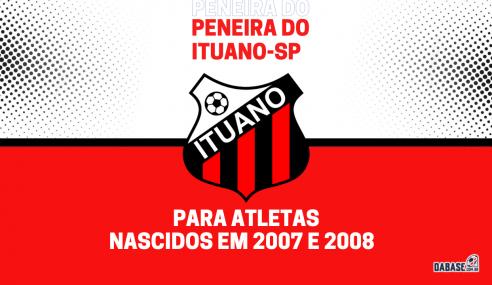 Ituano-SP realizará peneira para a equipe sub-15