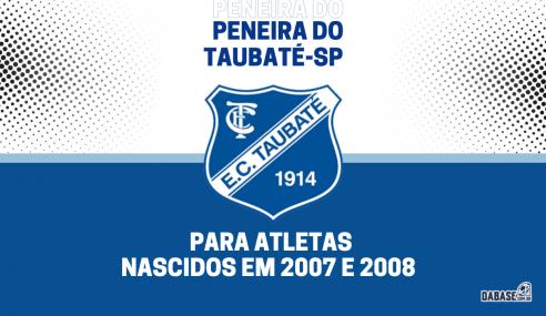 Taubaté-SP realizará peneira para a equipe sub-15