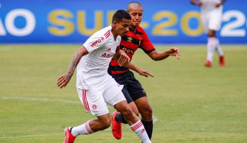 Em jogo de sete gols, Inter vence Sport e entra no G-8 do Brasileirão Sub-20