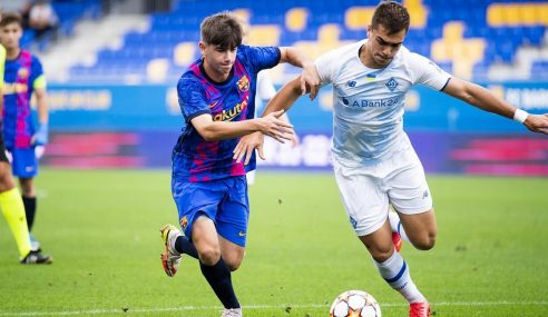 Dynamo Kyiv-UCR segue líder do seu grupo na Uefa Youth League